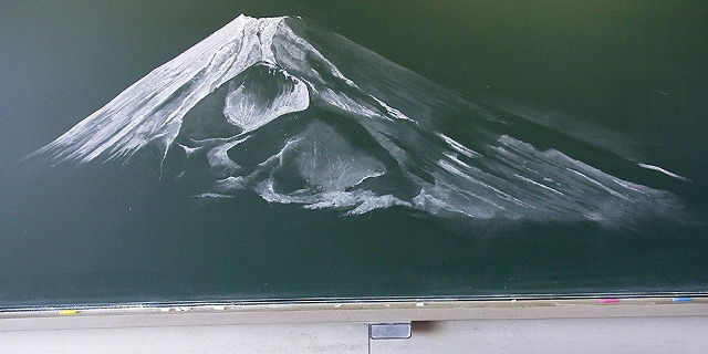 黒板アート/富士山