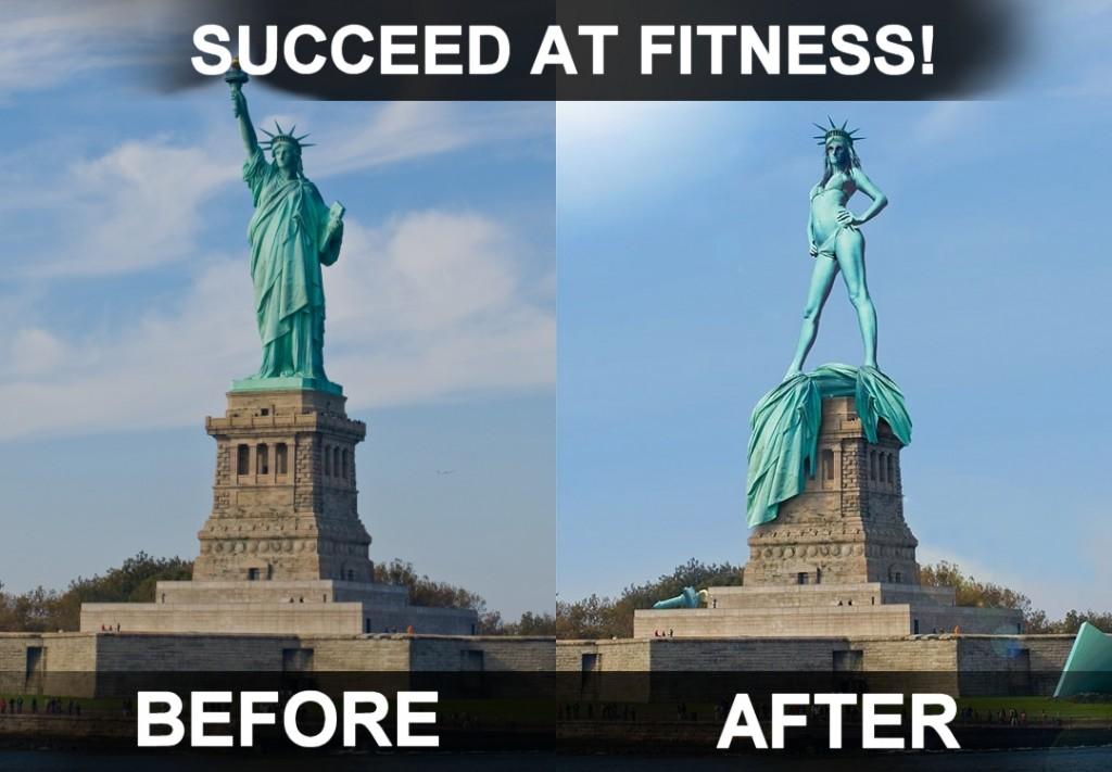 自由な?女神 – フィットネスに成功!