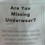 「下着をなくしていませんか?」という一枚の貼り紙が話題に・・・