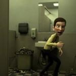トイレのドアノブに触れたくない潔癖症の男性を描いたCGアニメーションが面白い!
