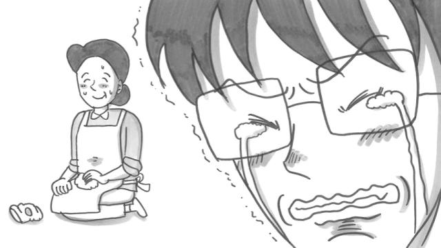 鉄拳のパラパラ漫画|つたえたい、心の手紙「母のサポーター」に涙が止まらない
