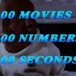 映画100作品に登場する数字のセリフを繋ぎ合わせた100秒カウントダウンがスゴイ!