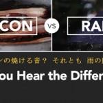 「雨の音」と「ベーコンの焼ける音」の聴き分けにチャレンジ!