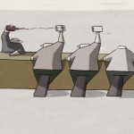 「WIND – 風」| 強風が吹き続ける国で生活する人々を描いたシュールなアニメーション