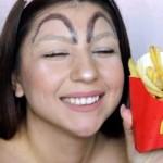 マクドナルドのM字型をした眉毛のメイク → 海外で密かに流行中!? 10枚