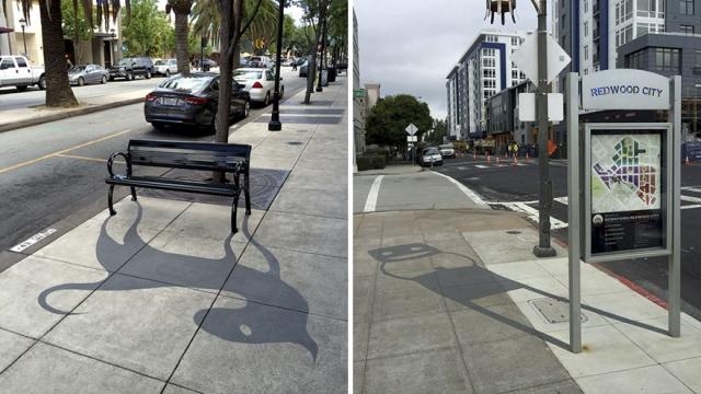 米・CA州のレッドウッドシティーで目にする不思議な影のある光景 16枚