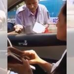 女性ドライバーに小銭をせびるホームレスの予想外の戦術に唖然!