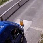 車止めのある信号は慌てて発進するとロクなことがないという事例