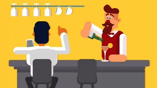 バーテンダーと男性客のWifiパスワードに纏わるお話