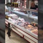 お肉屋さんに現れたおねだり上手な猫・・・「これくださいニャ」と可愛くアピール