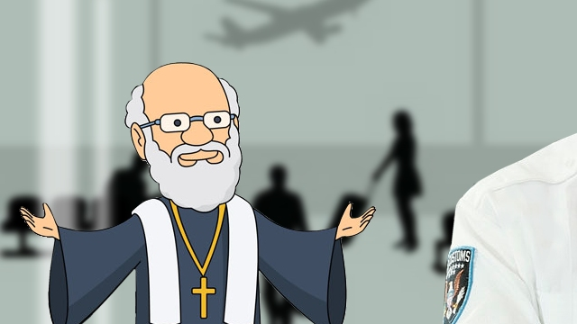 機内で隣り合わせになった女性にお願い事をされた神父のお話