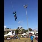 なんとも恐ろしいトリニダード・トバゴの凧揚げ風景