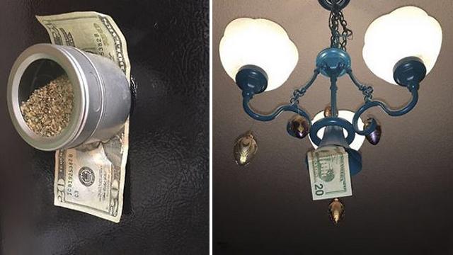 娘の家を訪れるたびにお金を隠していく父親・・・ちょっと嬉しいサプライズプレゼント