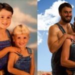 同じポーズで撮影された人々の過去と現在の比較写真がおもしろい!その7 23枚