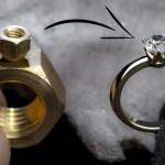 六角ナットを加工して美しい指輪を作る職人技がすごい!
