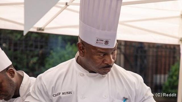 さすがホワイトハウスのシェフ。世界中の何処を探しても彼に勝てる料理人は居ないだろうと確信できる写真
