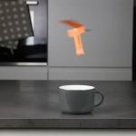 ホットコーヒーから発生する上昇気流に乗って空中を飛び続ける紙ヘリコプターの作り方