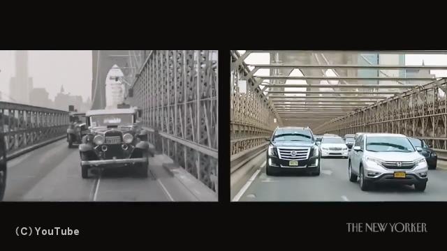 1911年のニューヨークと2014年のニューヨークを比較したノスタルジックな映像