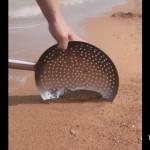 中華鍋の油切りをビーチに持っていくとこんなにも便利♪